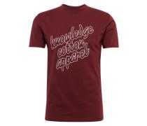 T-Shirt 'gots' weinrot / weiß