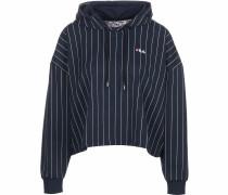 Sweatshirt 'Saima' dunkelblau / weiß
