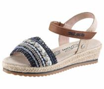Sandaletten blau / braun