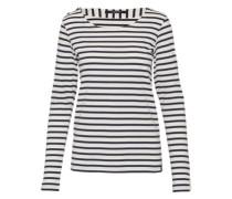 Langarmshirt 'breton stripe' nachtblau / weiß