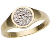ring »edel rund teilw. rhodiniert massiv«