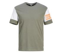Grafik T-Shirt oliv