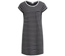 Schlichtes gestreiftes Kleid schwarz