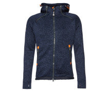 Sweatjacke 'Storm Double Ziphood' blau