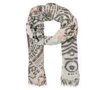 Schal mit Ethno-Muster beige