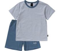 Schlafanzug für Jungen himmelblau