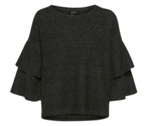 Pullover mit Volants anthrazit