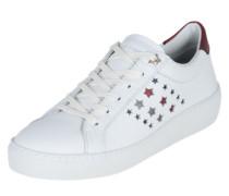Sneaker mit Stern-Muster weiß