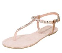 Sandale mit Nieten gold / rosé