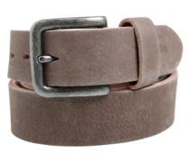 Maskuliner Ledergürtel im Vintage-Look grau