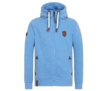 Male Zipped Hoody Schwarzkopf II blau