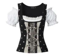 Shirt Siena schwarz / naturweiß