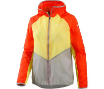'Pedroc 2 Superlight' Windbreaker Damen hellgelb / hellgrau / neonrot