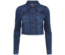 Jeansjacke Kurz geschnittene blau