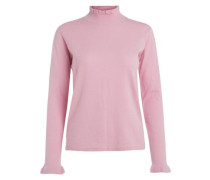 Langärmelige Rüschen-Bluse rosa