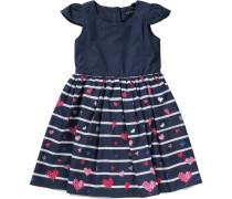 Kleid nachtblau / dunkelpink / weiß