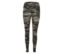 Camouflage-Leggings graphit / greige