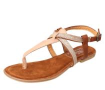 Sandale mit Glitzer braun / rosé