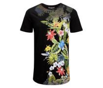 Bedrucktes T-Shirt mischfarben / schwarz