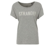T-Shirt aus Slubyarn-Jersey grau