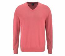 V-Ausschnitt-Pullover lachs