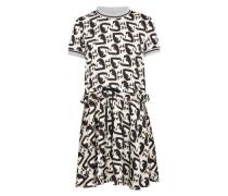 Kleid 'bambina' beige / schwarz