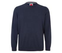 Pullover aus glattem Feinstrick navy