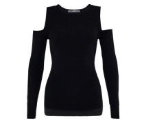 Cold-Shoulder-Pullover aus Feinstrick schwarz