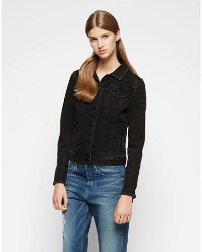 calvin klein damen calvin klein jeans jeansjacke 39 rylee 39 black 18 reduziert. Black Bedroom Furniture Sets. Home Design Ideas