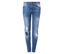 Girlfriend Ankle Jeans blau
