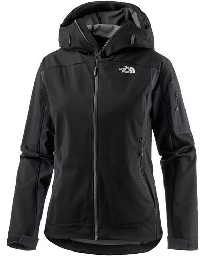 'Water Ice' Softshelljacke schwarz