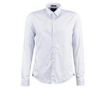 Classic Hemd in Poplin Qualität blau / weiß