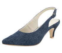 Slingpumps blue denim