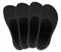 Offene Füßlinge (4 Paar) schwarz