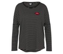 Shirt 'everest' schwarz / weiß