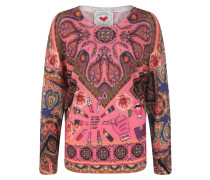 Pullover Paisley pink / beige