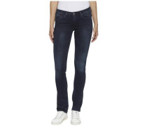 "Jeans ""mid Rise Straight Sandy Habst"" blue denim"