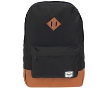 Kids Backpack Rucksack 33 cm cognac / schwarz