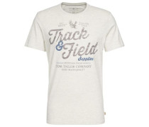 T-Shirt T-Shirt mit Schrift-Print weiß