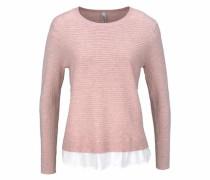 2-in-1-Pullover 'Niaka 16' rosé / weiß