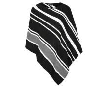Poncho mit Black-and-White-Stripes
