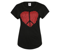T-Shirt 'True Love' schwarz