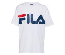 'Classic Logo' T-Shirt blau / weiß