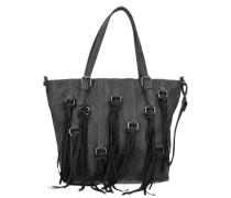 Crissy Vintage Shopper Tasche 40 cm schwarz