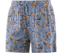 Shorts taubenblau / dunkelgelb