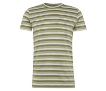 T-Shirt 'cn yd nep strip' creme / khaki