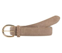 Wildleder-Jeans Gürtel hellbraun