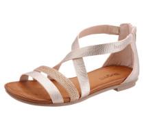 Sandale mit Schmucksteinen silber