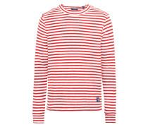 Sweatshirt im maritimen Look rot / weiß