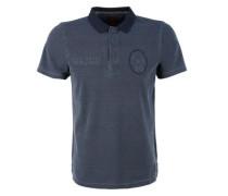 Poloshirt aus Baumwollpiqué nachtblau